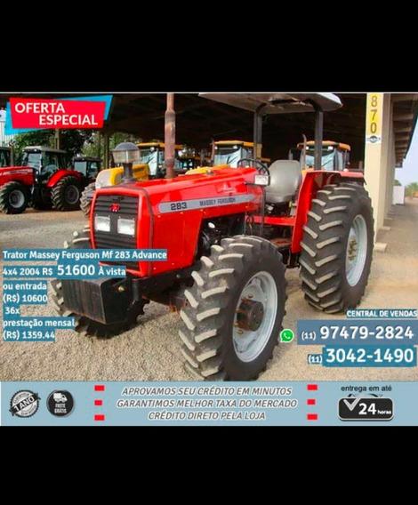 Trator Massey Ferguson Mf 283 Advance 4x4 2004 Vermelho