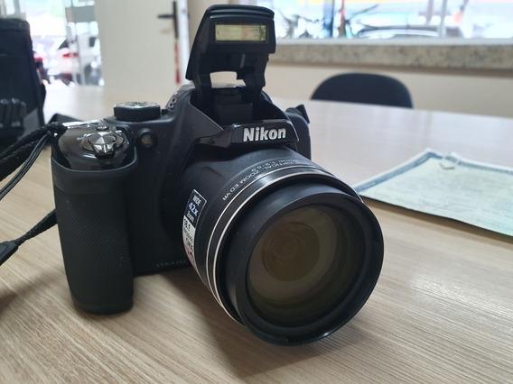 Máquina Fotográfica Nikon P520, Praticamente Sem Uso