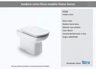 Inodoro Roca Dama Senso Corto + Tapa Amortiguada