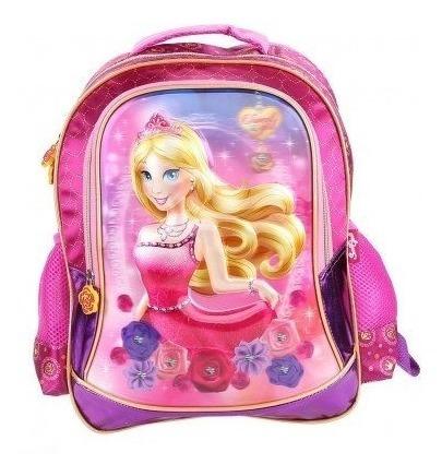 Mochila Escolar Feminina Princesa Sweet Girl Alto Relevo