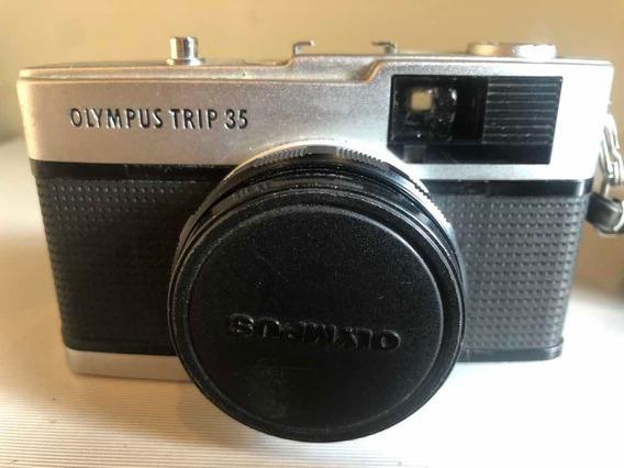 Maquina Fotográfica Olympus Trip 35 Case E Filme Antiga