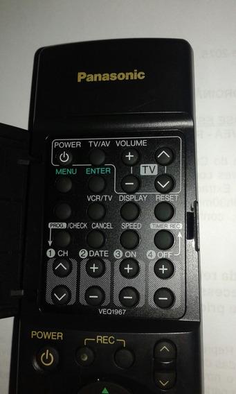 Controle Remoto Panasonic Veq1967 Original Vídeo Cassete