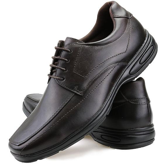 Sapato Social Masculino Ortopédico Antistress Couro Legitimo