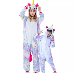 Unicórnio Pijama Infantil E Adulto - Pronta Entrega