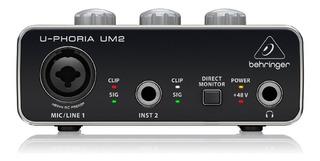 Interface De Audio Behringer U-phoria Um2 Cuotas