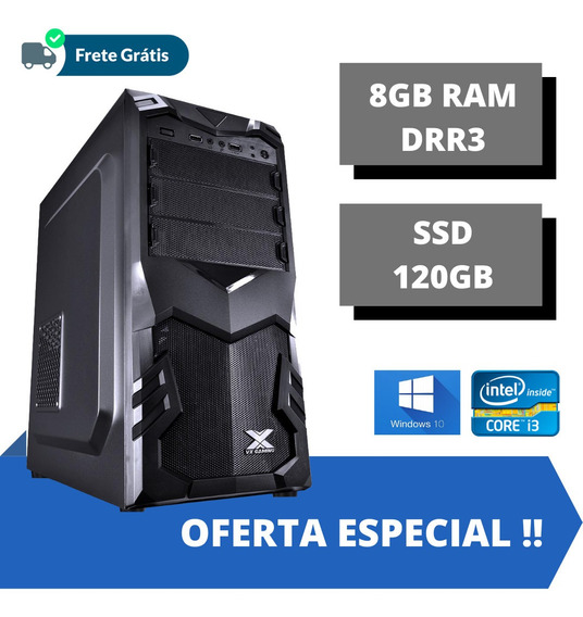 Cpu Montada Torre Core I3 8gb Ddr3 Ssd 120gb Windows 10.