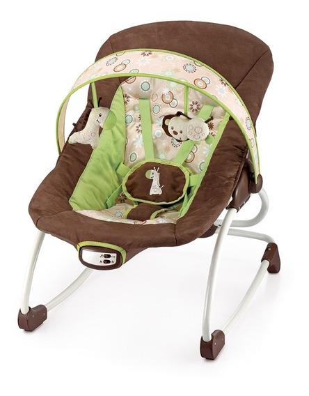 Cadeira Cadeirinha Bebê Descanso Vibratória Musical Marrom