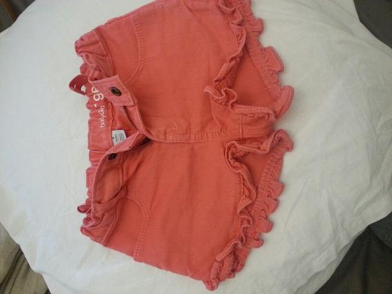 Short De Jean Color Coral C Bolados De Gap T 4