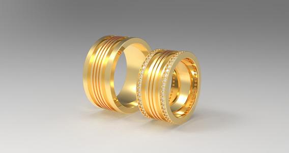 Alianças De Casamento Ouro Amarelo 18k (10mm)