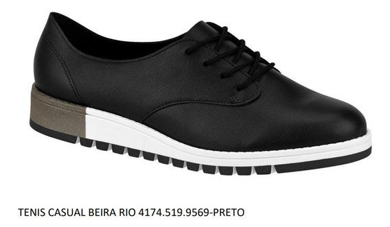 Tênis Beira Rio 4174.519.9569 / Cor: Preto