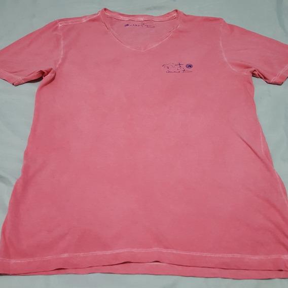 Camiseta Mandi Trancoso Rosa Claro P Manga Curta Ótimo Estado Leve Linda Passeio Oportunidade Brechó Usada