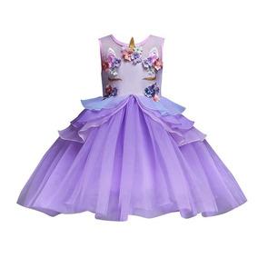 Vestido Unicornio Con Diadema Niña Niñas Fiesta Cumpleaños