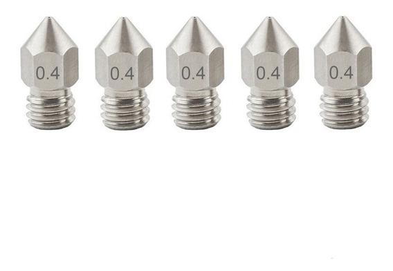 Noozle Bico Aço Inox Impressora 3d 5 Unidades Cod 33