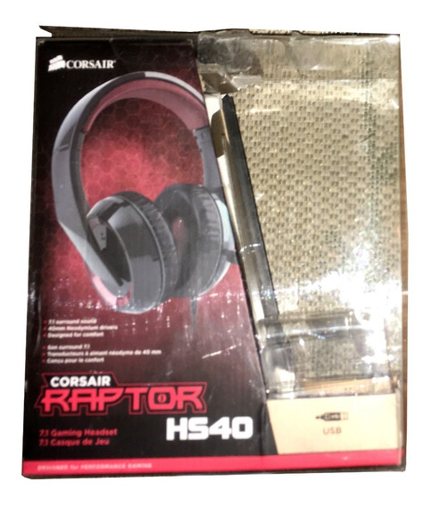 Caixa Corsair Raptor Hs40 Usb Sem Headset Fone Só Box Caixa