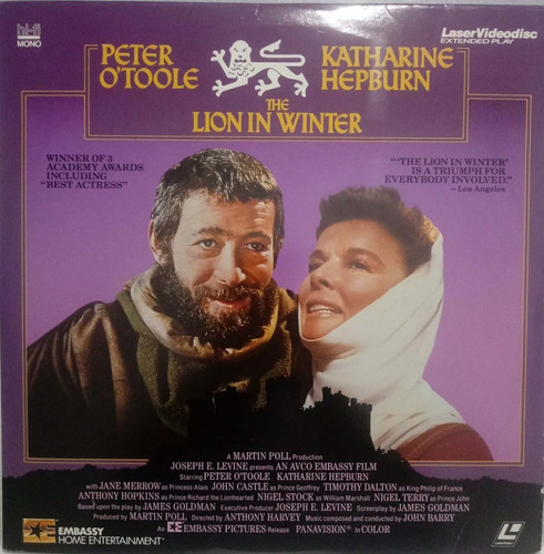 Laserdisc(2) The Lion In Winter - Peter O'toole, K. Hepburn