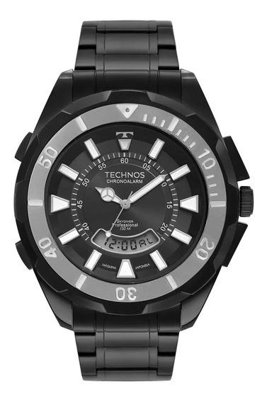Relógio Masculino Technos Skydiver Preto T205jn/4p
