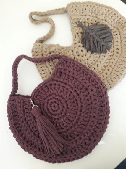 Bolsa Crochet 100% Algodón Hecho A Mano