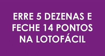 Lotofacil Erre 05 Pedras E Faça 14 Pontos.!