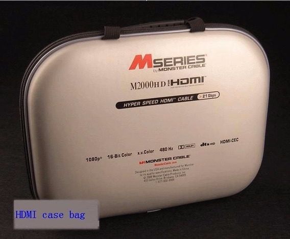 Case + Cabo Hdmi Monster M2000hd 2,44 Mts Importado Original