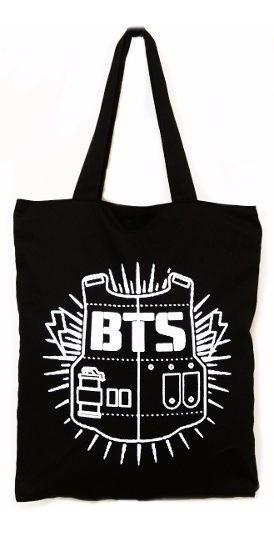 Bolsa Bts K-pop Banda Coreana Ecobag Passeio Grande Ziper