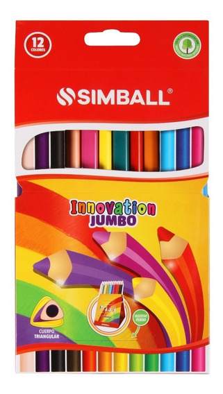 Lapices De Color Simball Innovation X12 Largos Colores