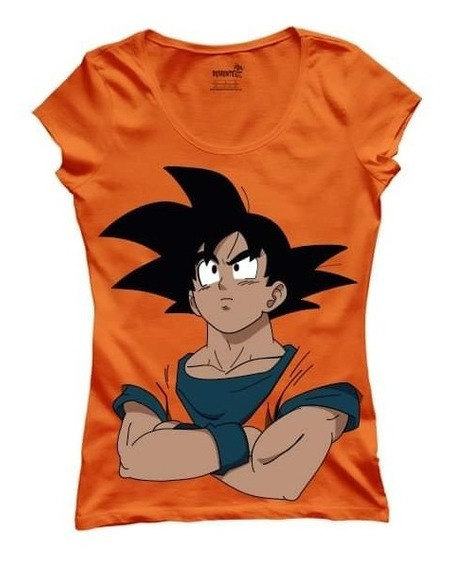 Remera Dama Goku Dragin Ball Plena Calidad Premium