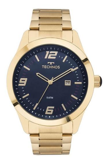 Relógio Technos Masculino Analógico Racer Dourado