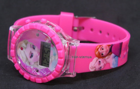 Relógio Infantil Frozen Digital 3d Rosa Luzes Original C330