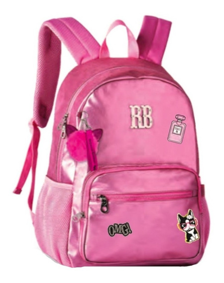 Mochila Escolar Rebecca Bonbon Stickers Rb2073 Original