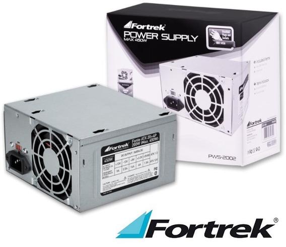 Fonte Atx Computador 200w Output 450w 2+4 P 2 Sata