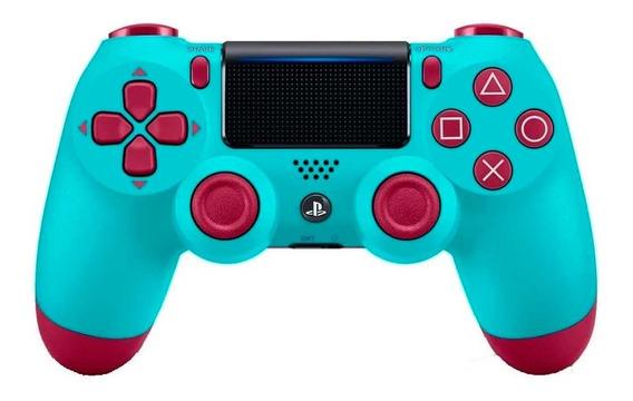 Controle Sem Fio Dualshock 4 Sony Para Ps4 Berry Blue