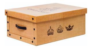 Caja Decorativa De Carton Estampada Organize® 50x35x20cm