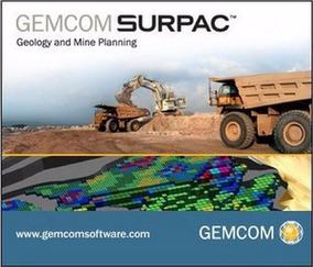 Surpac Geovia 6.7.4 Gemcom - Software Geologia Mineração
