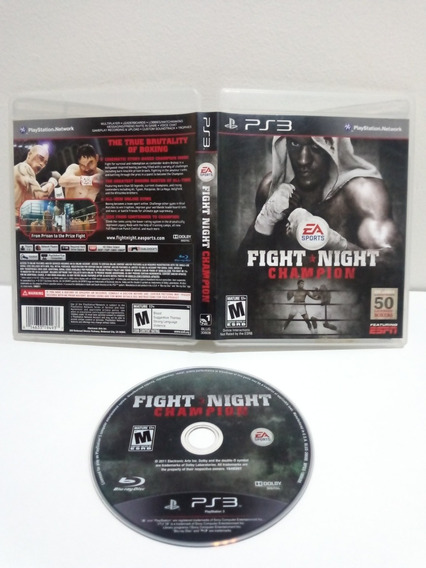 Jogo Ps3 Fight Night Champion Midia Fisica