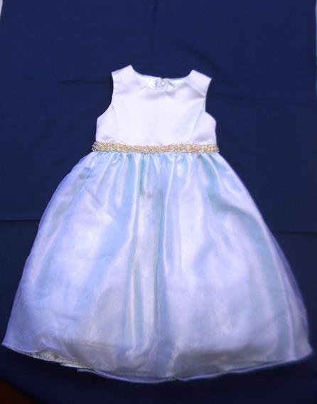 Precioso Vestido De Fiesta Sin Mangas Cinderella