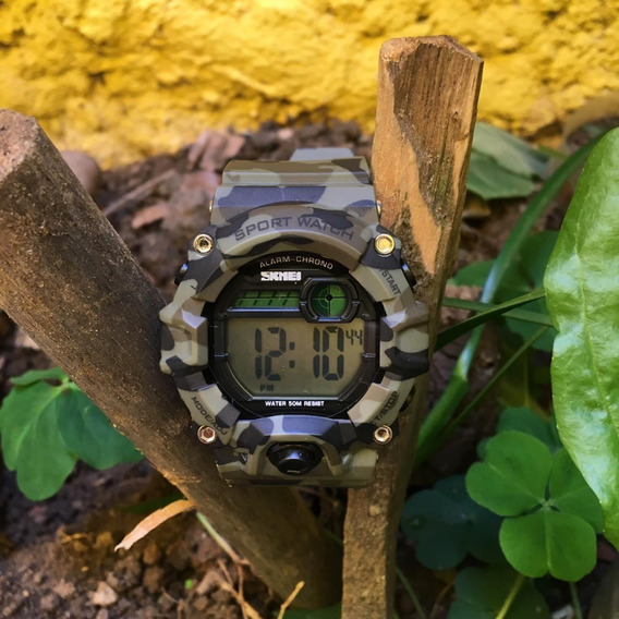 Relógio Masculino Skmei Digital 1242 - Camuflado Prova D