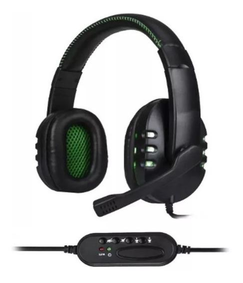Headset Gamer C/ Led Usb 3 Em 1 Pc Ps4 Xbox One Computador
