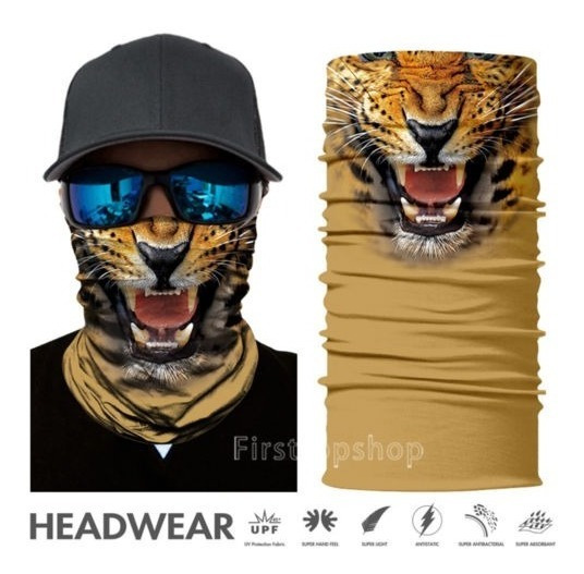 3d Animal Cara Respirable Protector Sol Mascarilla Cuello Po