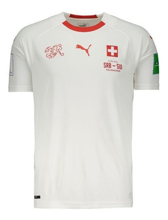 Camisa Puma Suíça Away 2018 Patch + Matchday
