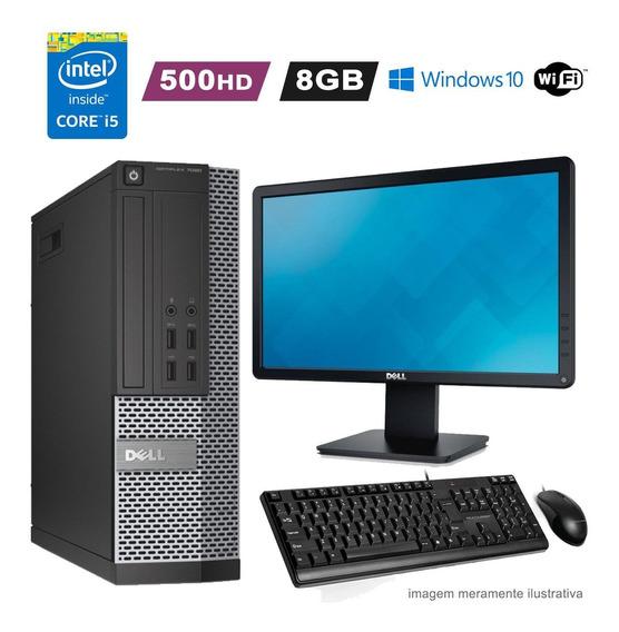 Computador Dell I5 3470 8gb Hd 500gb Wifi Win10 + Monitor