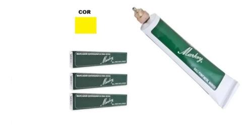 Imagem 1 de 1 de Marcador Industrial Para Metais Amarelo Markey 4 Pçs