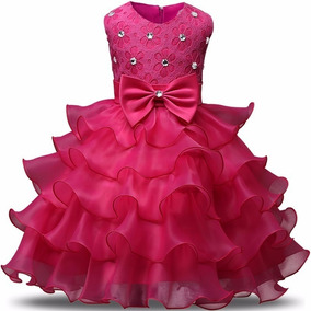 Vestido Infantil Festa Pink Barbie Princesas P.entrega!
