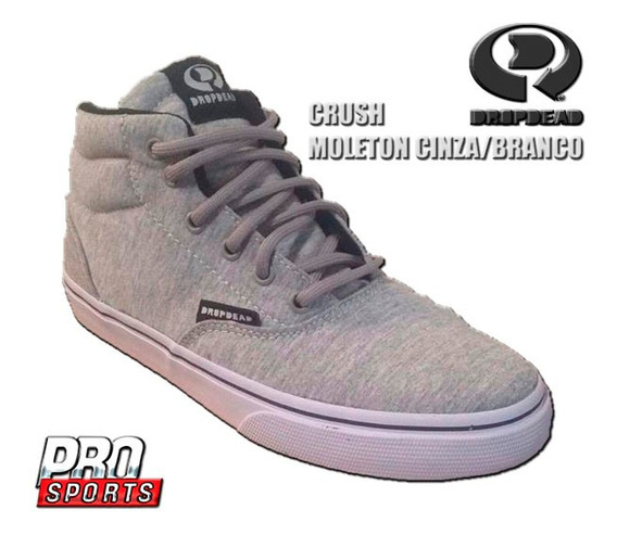 Drop Dead Tênis 37301 Crush Moleton Cinza - Original - Bu