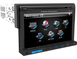 Autoestereo Power Acoustik Pd-710b Usb Aux Bt Dvd Mp3 Mp4 7