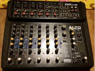 Consola Profesional Alto Zmx 122 Fx - 8 Canales