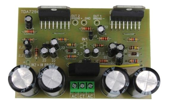Placa Amplificador 200w Mono Ou Stereo Tda7294 Com Fonte