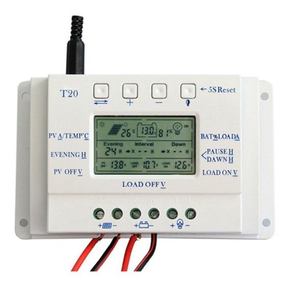 Controlador De Carga Para Painel Solar 20a Mppt 12e24v+brind