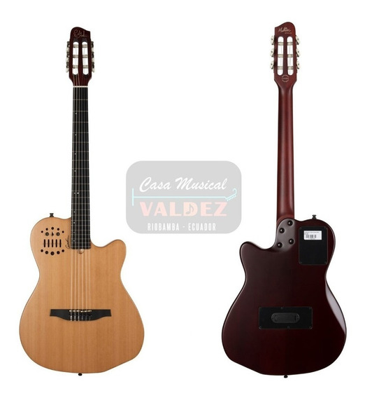 Guitarra Godin Acs Slim Midi Nylon Natural + Estuche