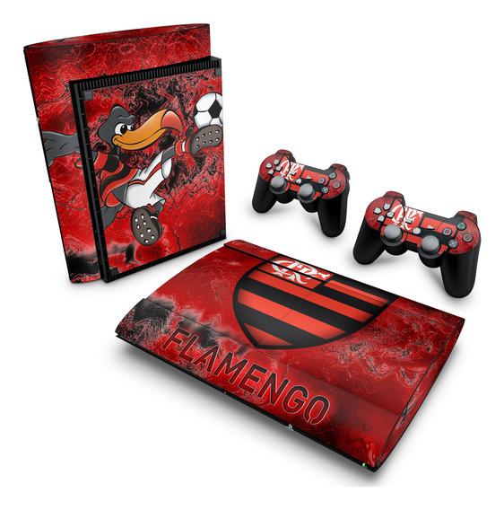 Adesivo Ps3 Super Slim Skin Playstation 3 Flamengo Time