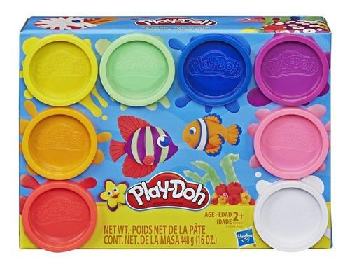 Massinha Play Doh Kit Com 8 Potes Arco Íris Hasbro